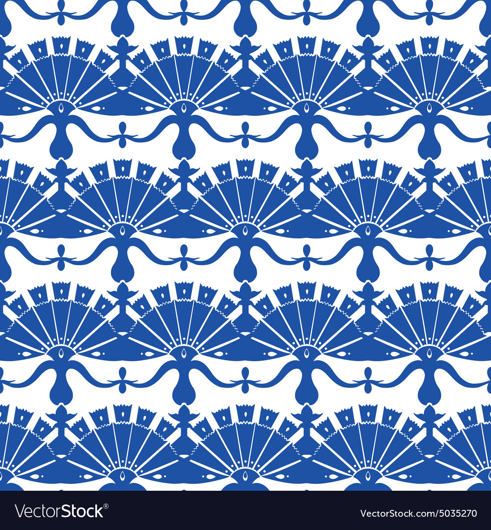 Royal Blue Turskish Floral Abstract