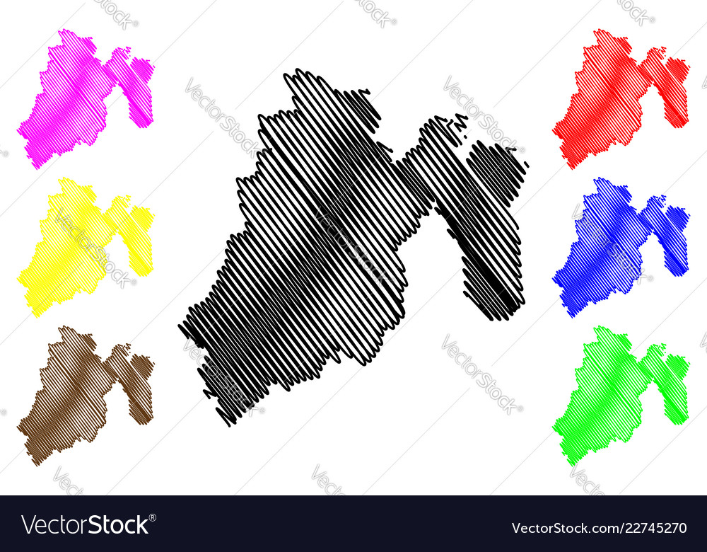 State of mexico map Royalty Free Vector Image - VectorStock
