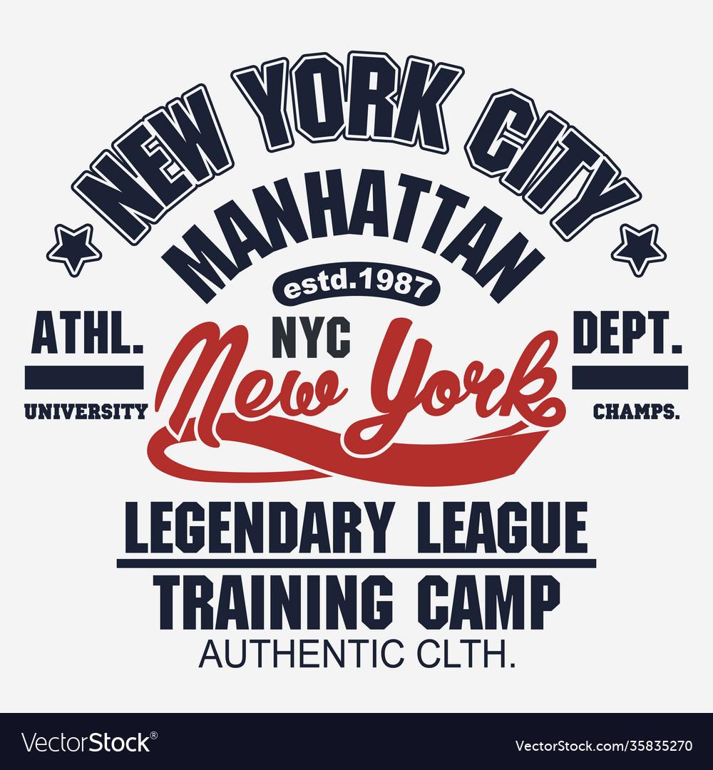 T-shirt stamp graphic new york sport wear