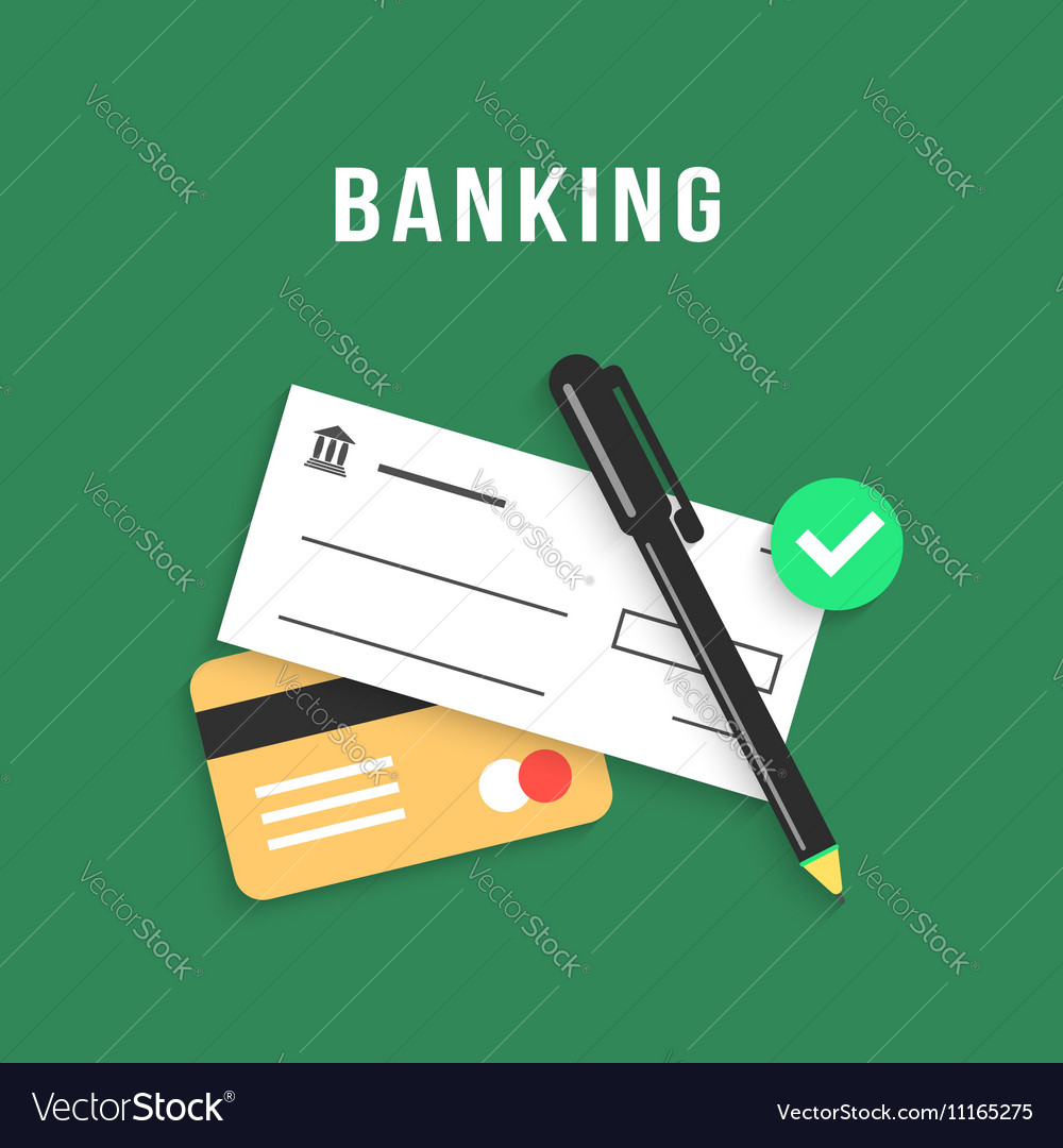 Banking with charge card and bank check