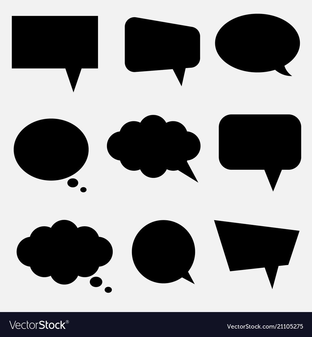 Cloud bubble speech