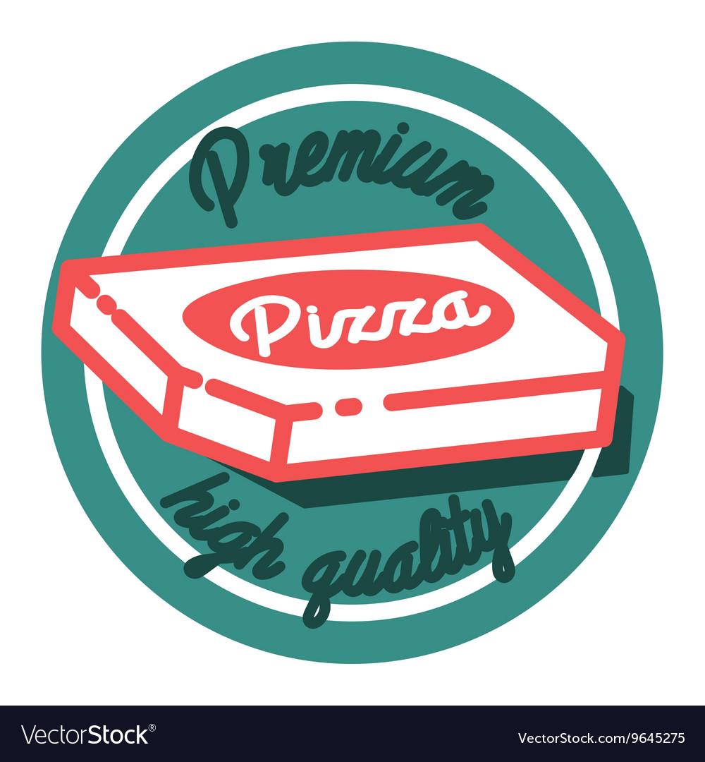 Color vintage pizza emblem