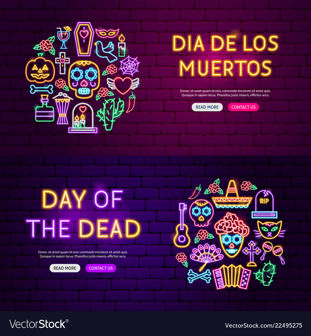 Day dead website banners
