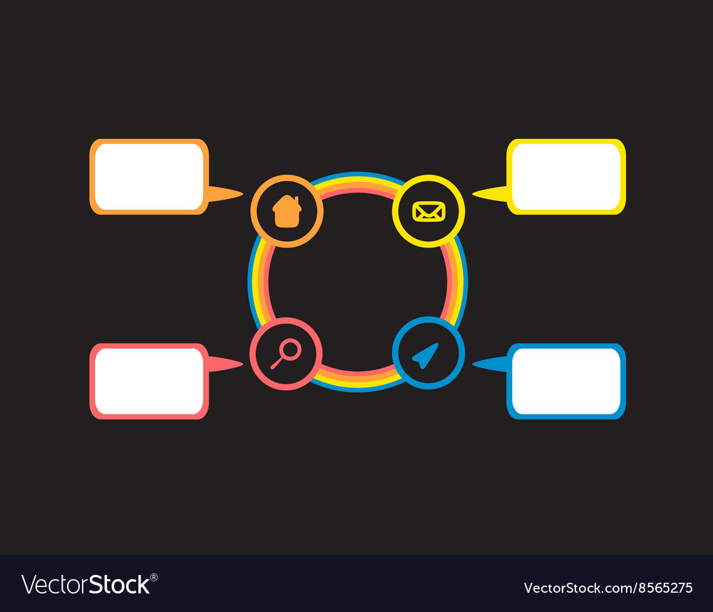 Flat colorful infographic circles with