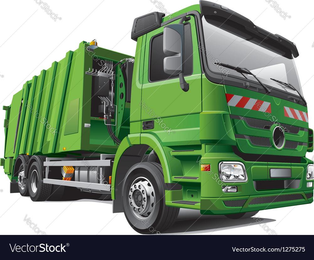 Modern Garbage Truck Royalty Free Vector Image