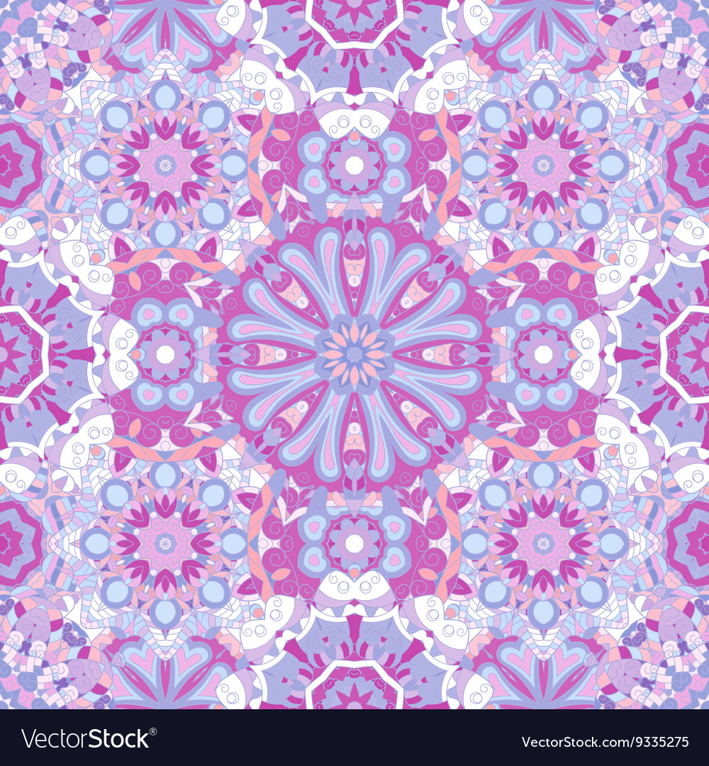 Seamless round pattern for printing on fabric or