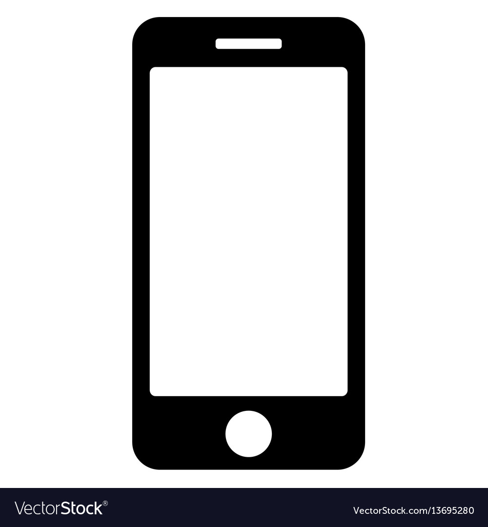 Black phone icon on white background eps vector image
