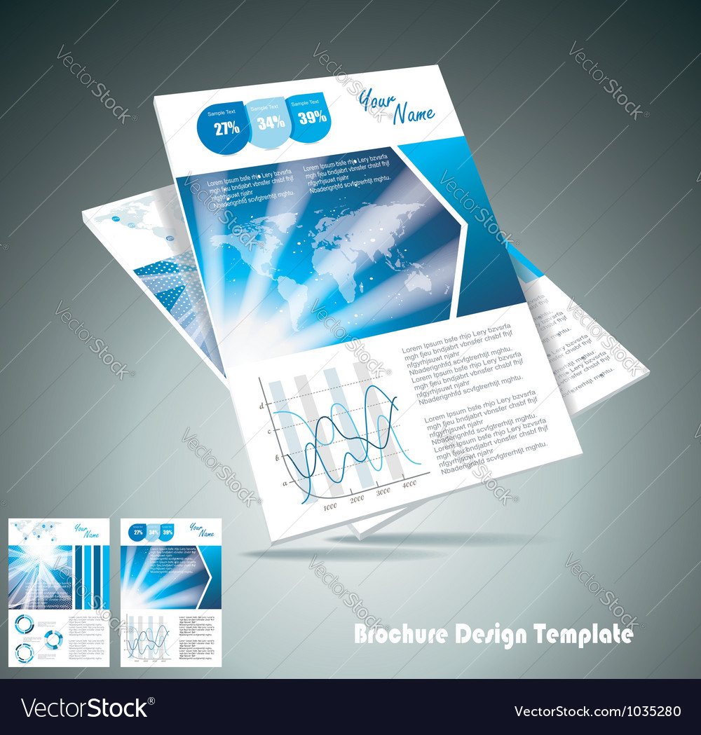 Brochure design element
