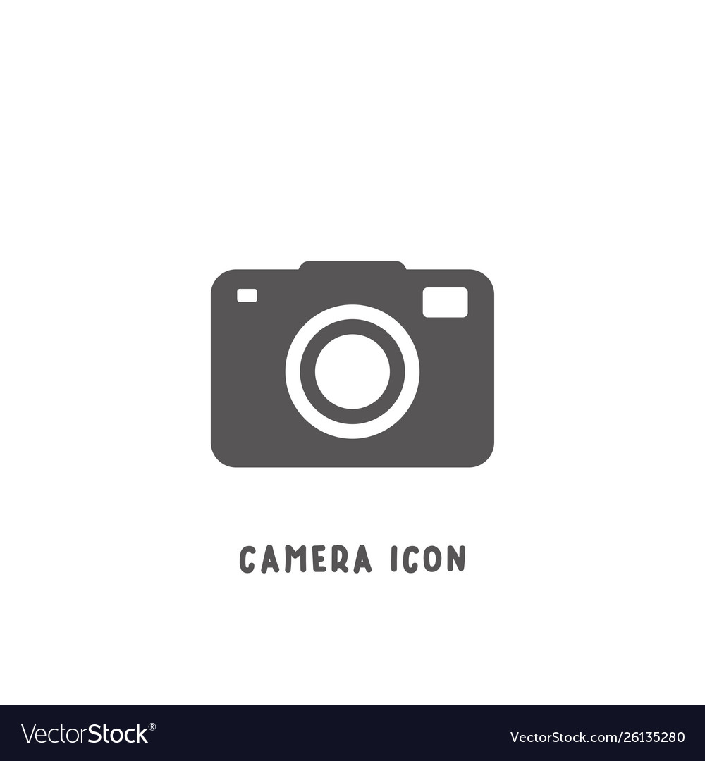 Camera icon simple flat style