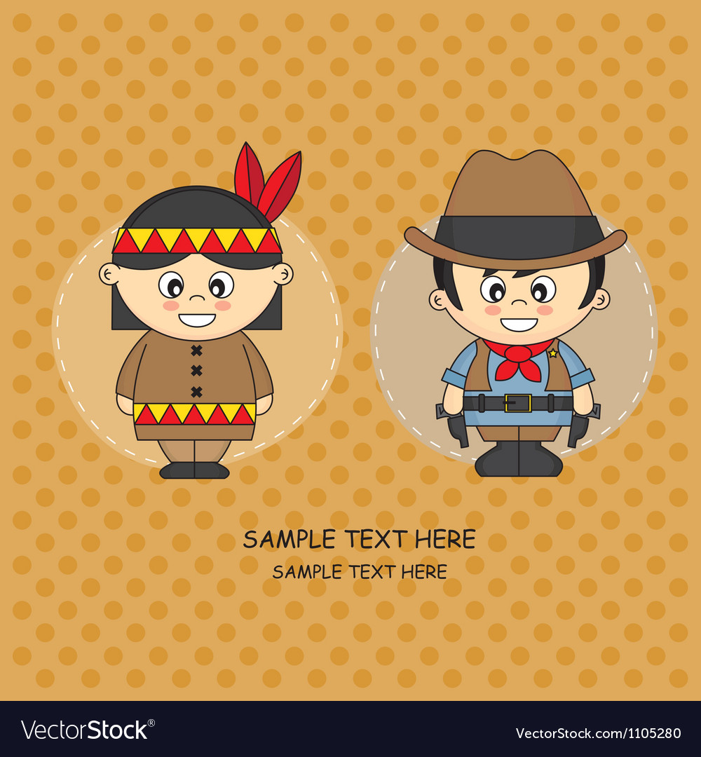 Card costume party vector image