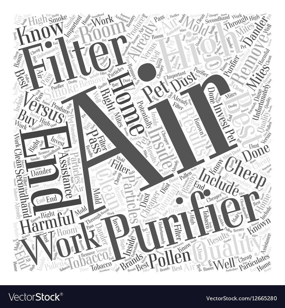 Cheap Air Filters >> Cheap Air Filters Versus High End Air Filters Word