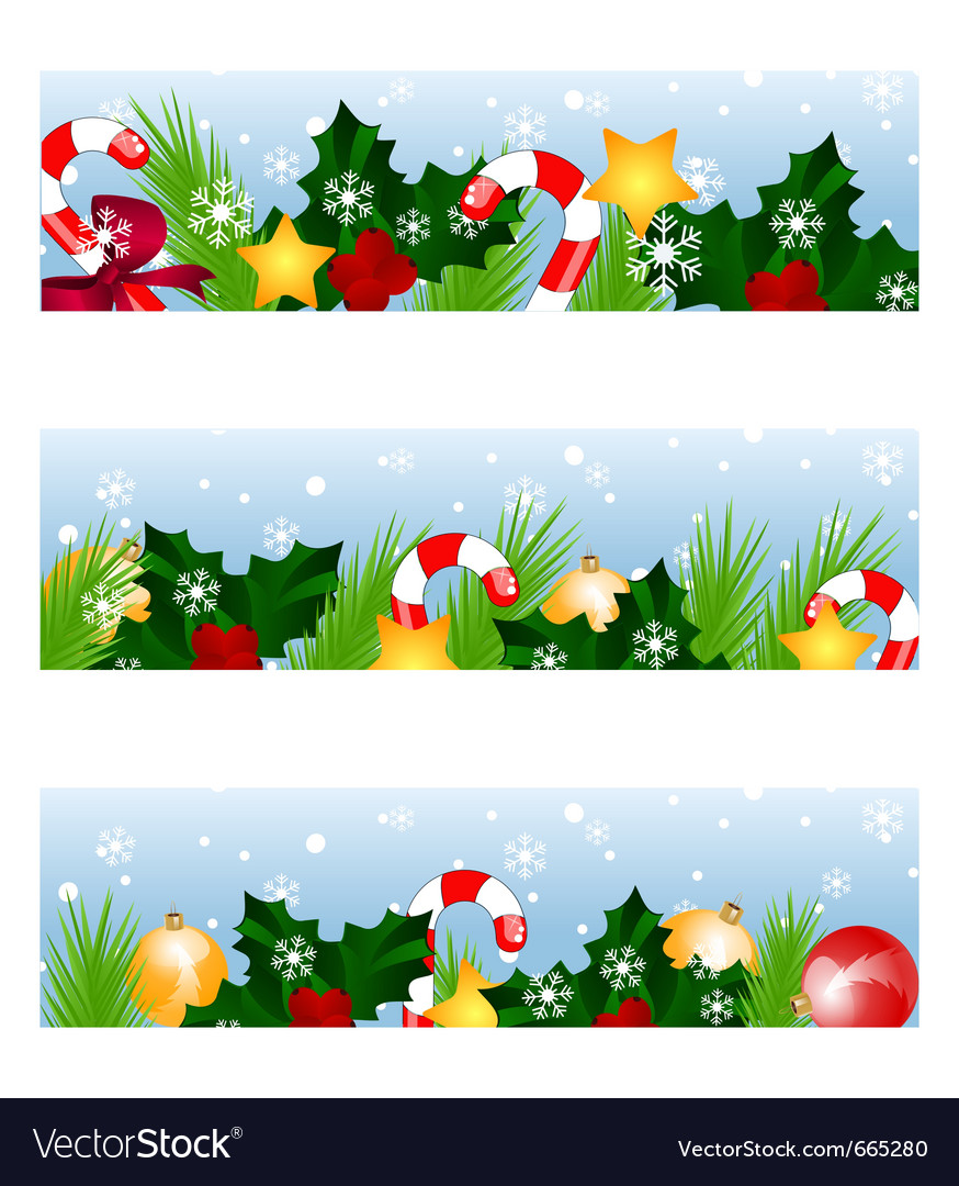christmas banners royalty free vector image vectorstock