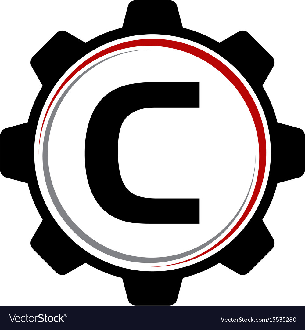 Gear solution logo letter c