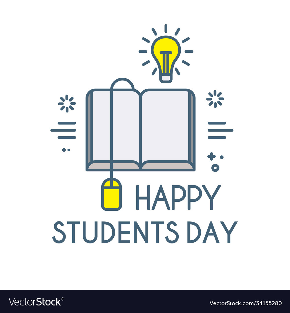 Happy students day learning graduate