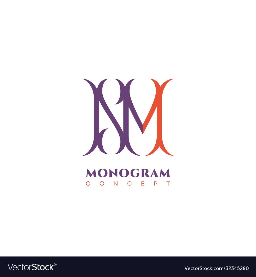 Luxury monogram nm