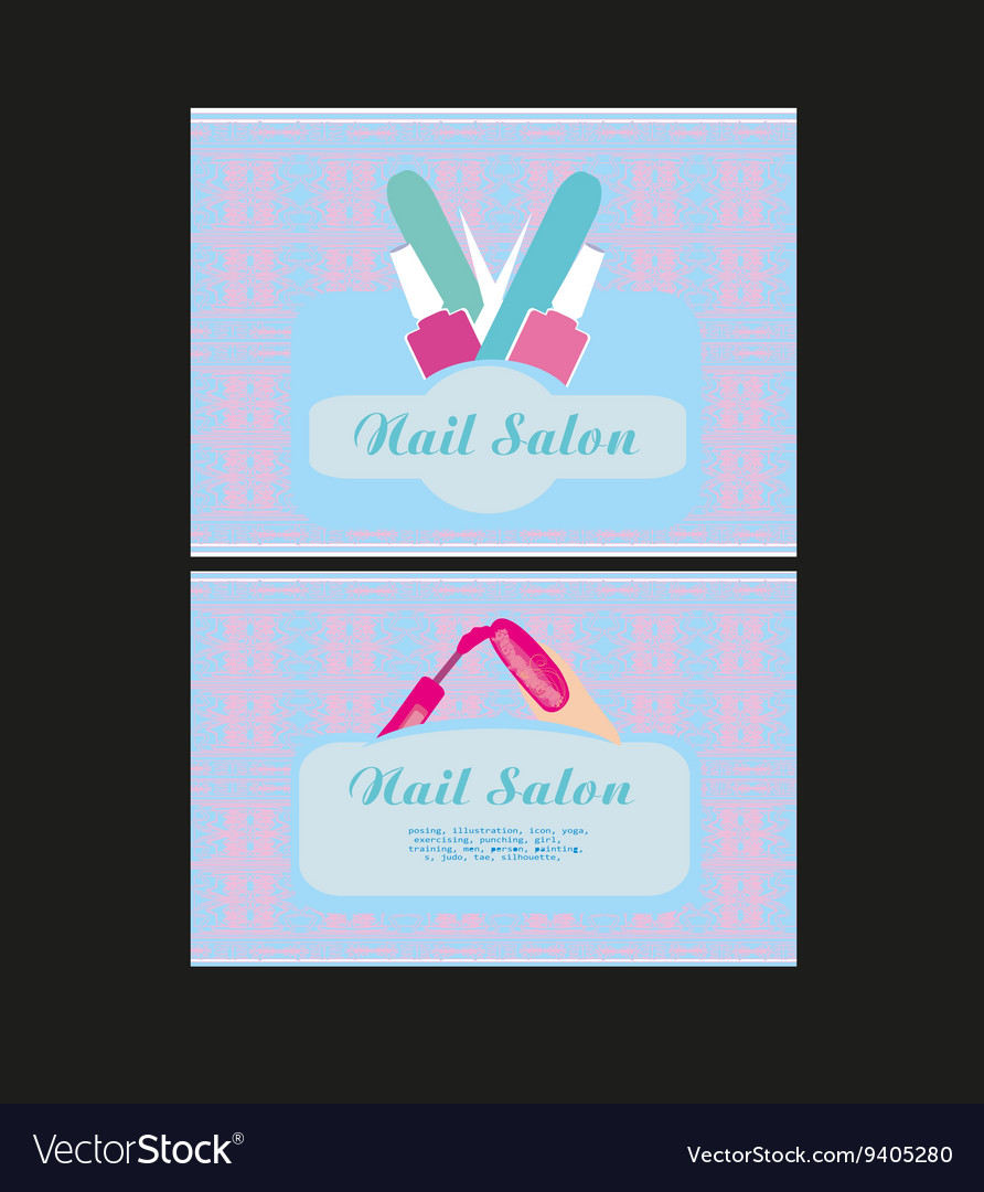 Nail Salon design of business cards Royalty Free Vector