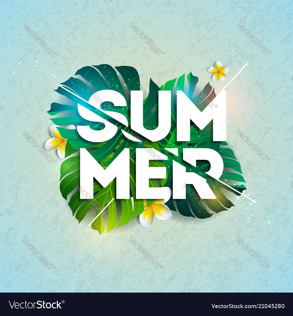 Summer holiday typographic