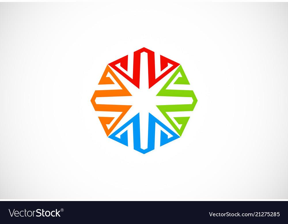 Geometry shape circle colored logo