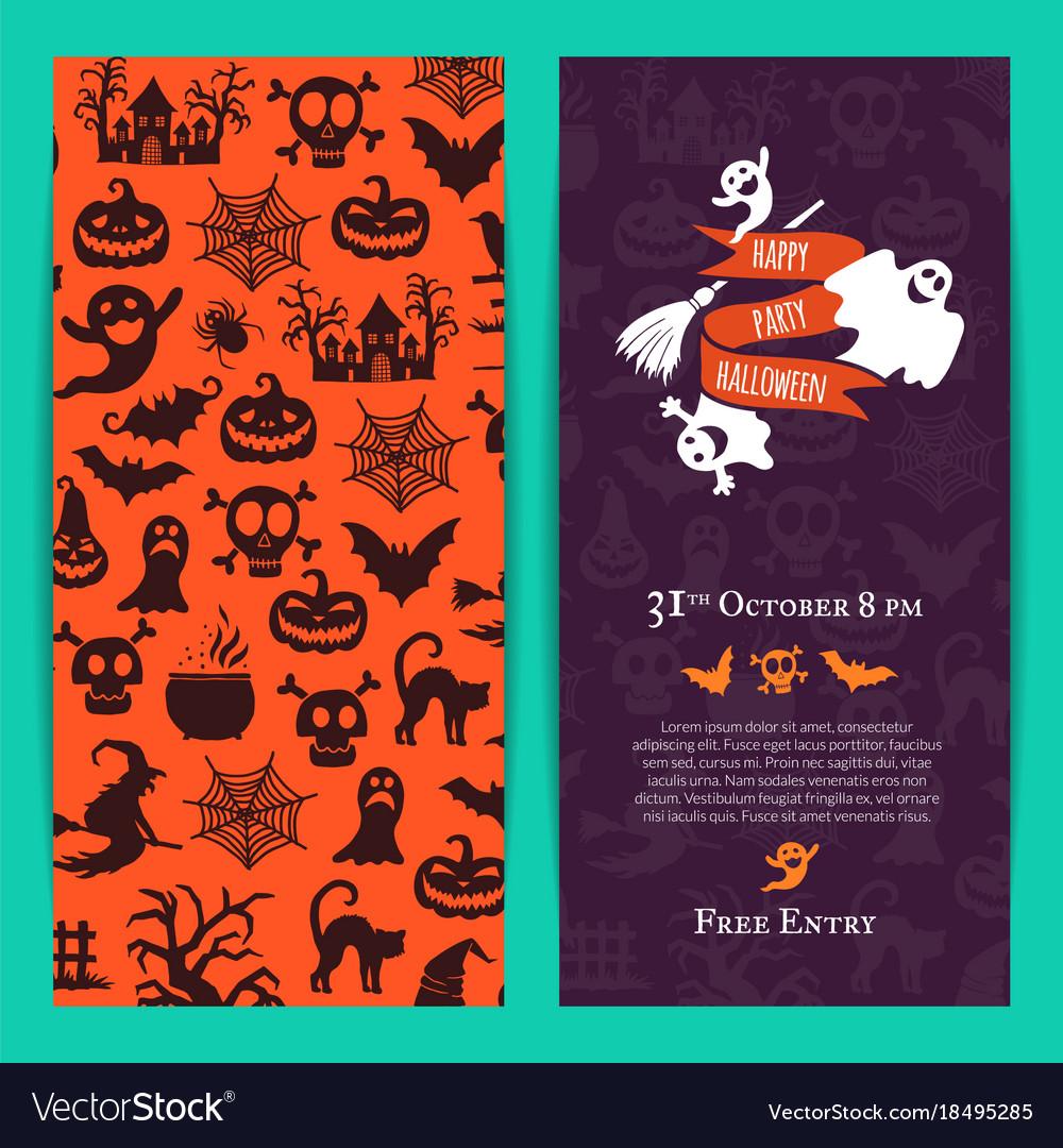 Halloween party thin invitation card royalty free vector halloween party thin invitation card vector image stopboris Choice Image