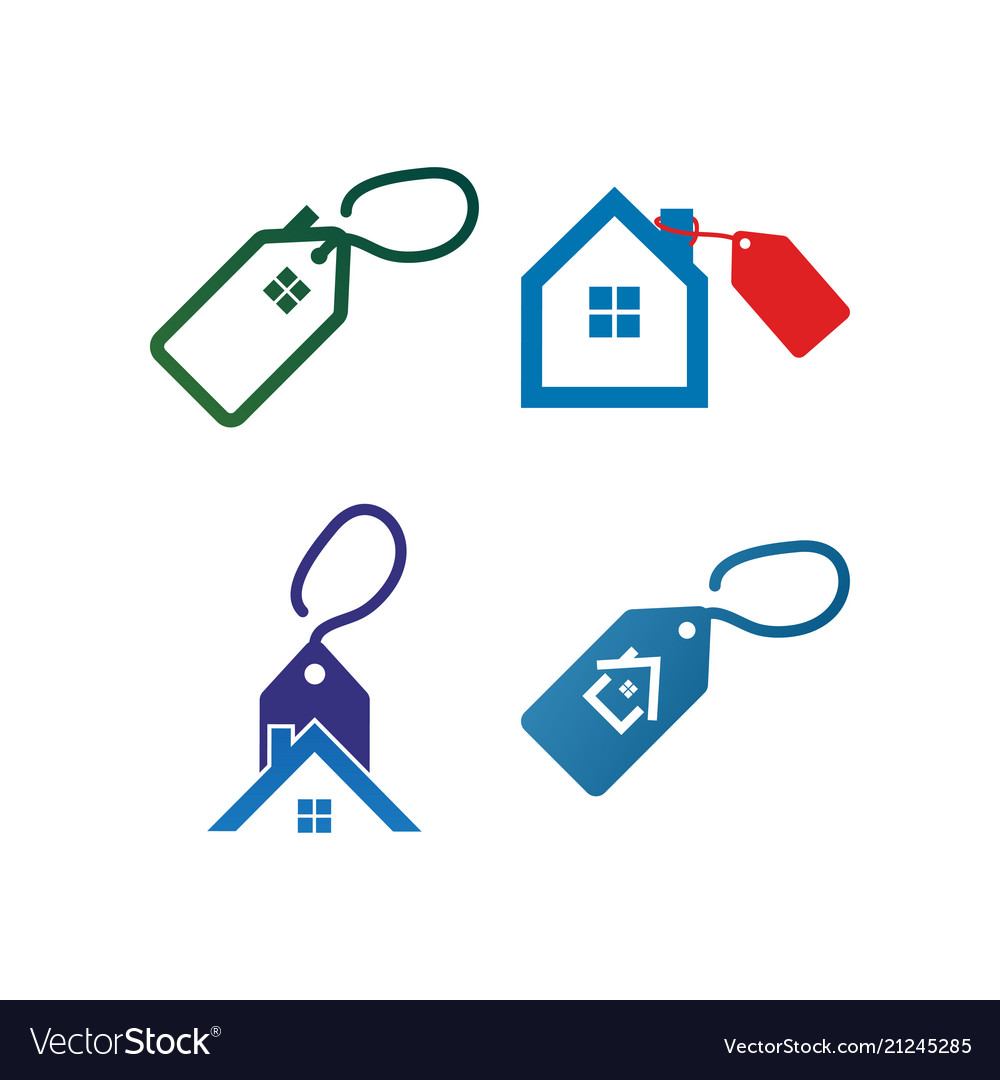 house for sale logo icon template vector image