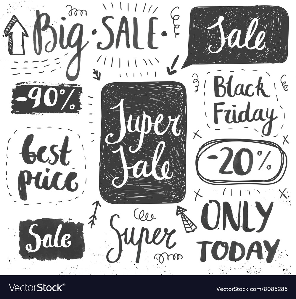 Sale hand lettering Shop dicount grunge style