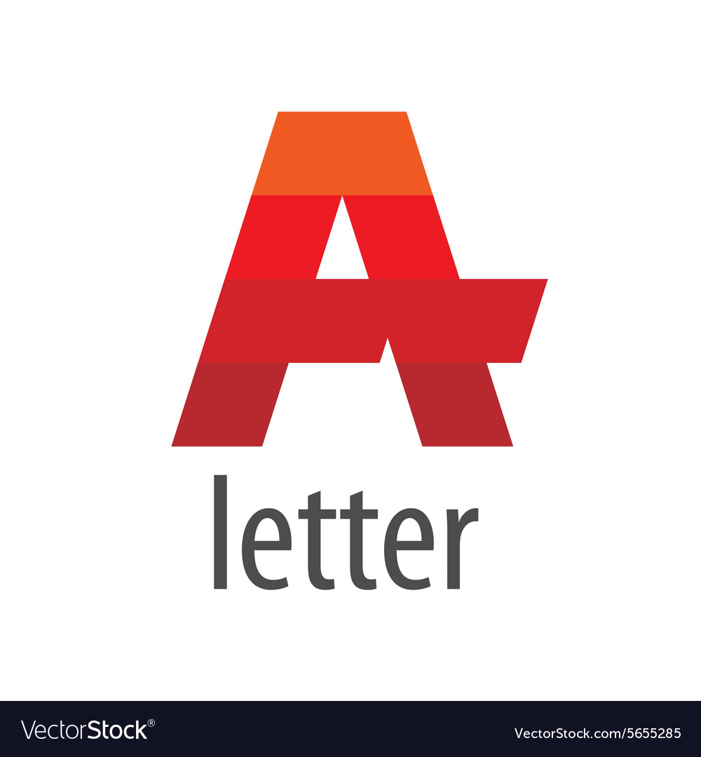 Striped logo red letter A