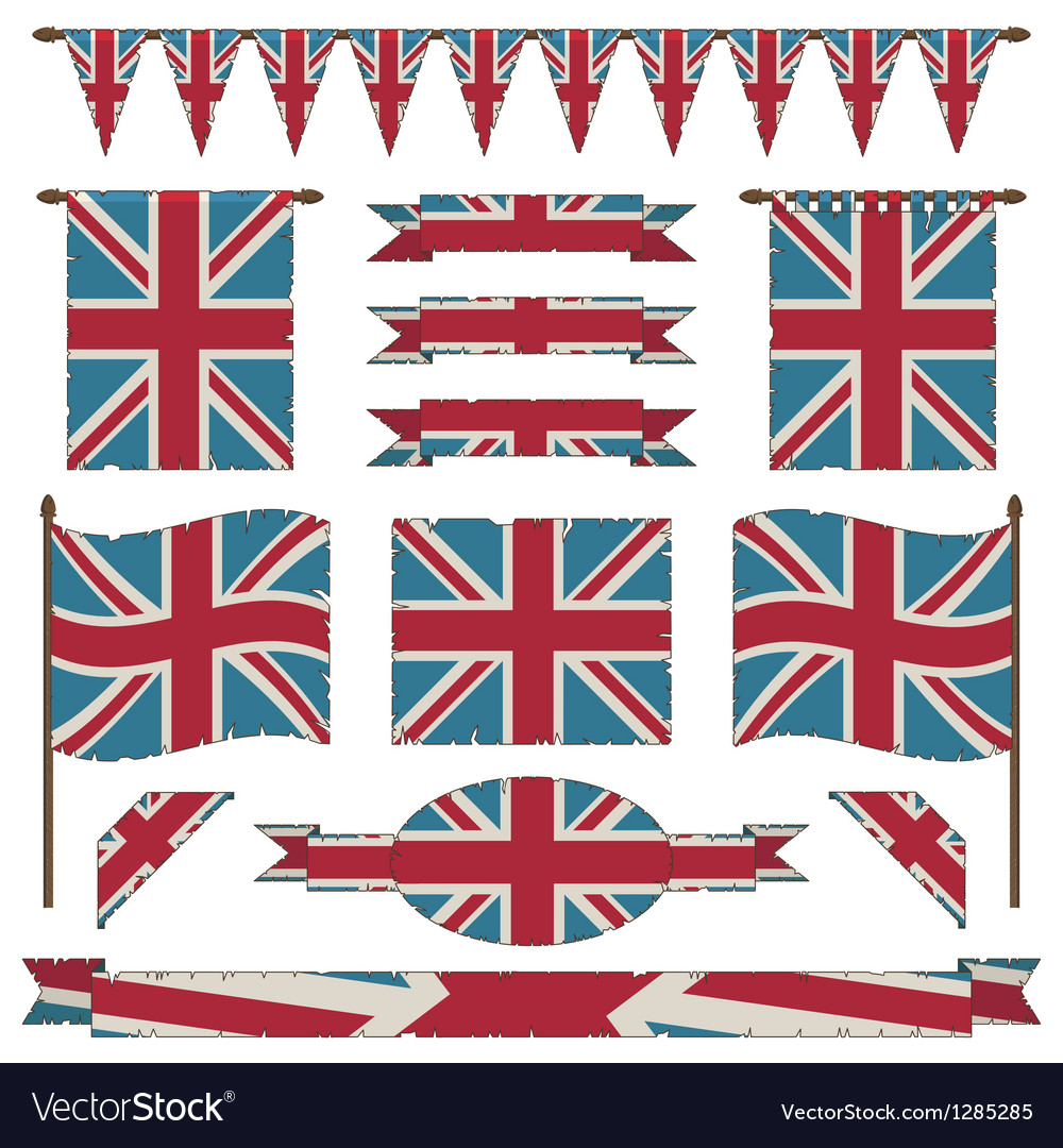Union jack flags and ribbons