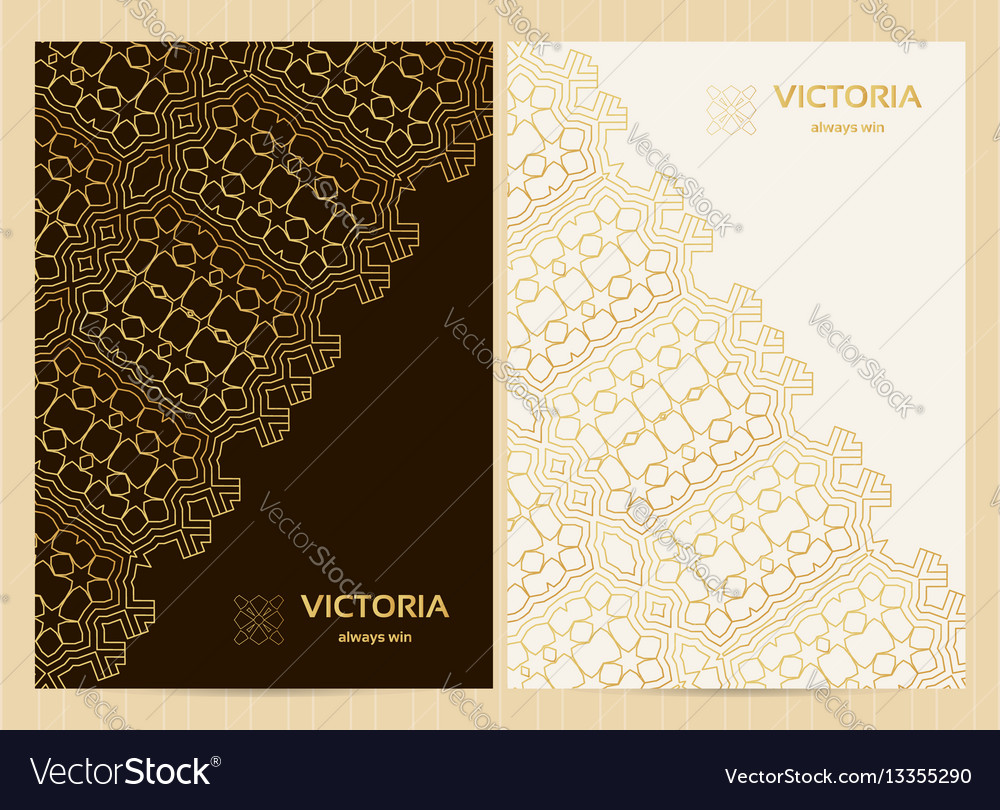 A4 format cards decorated with lace pattern in