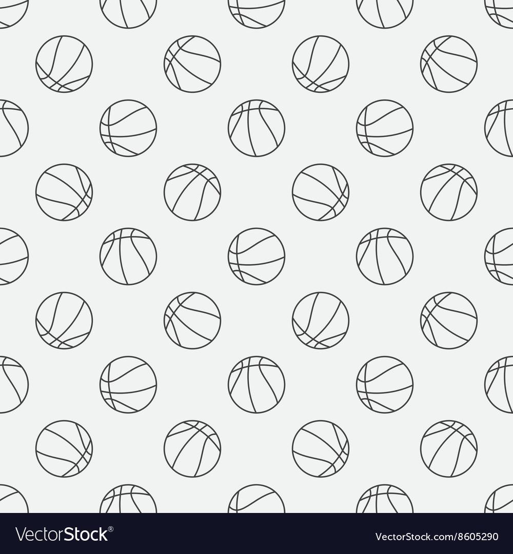 Basketball linear pattern vector image