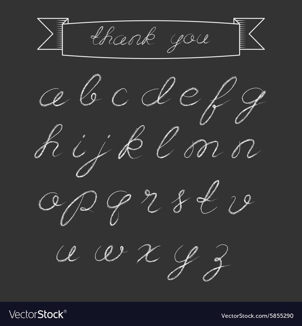 Chalk script alphabet