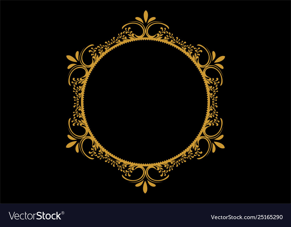 Graphic circle frames wreaths for design