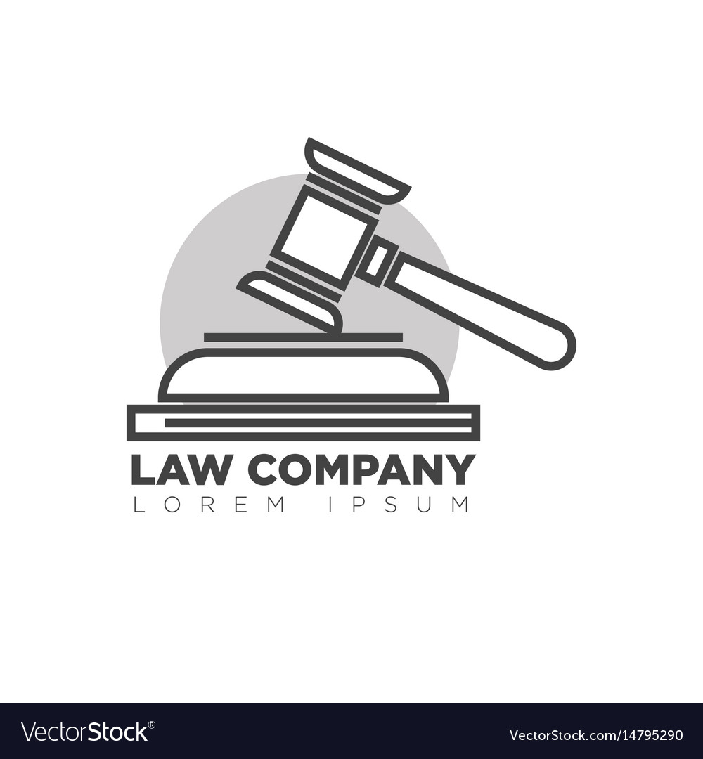 Law company office monochrome logotype with judges