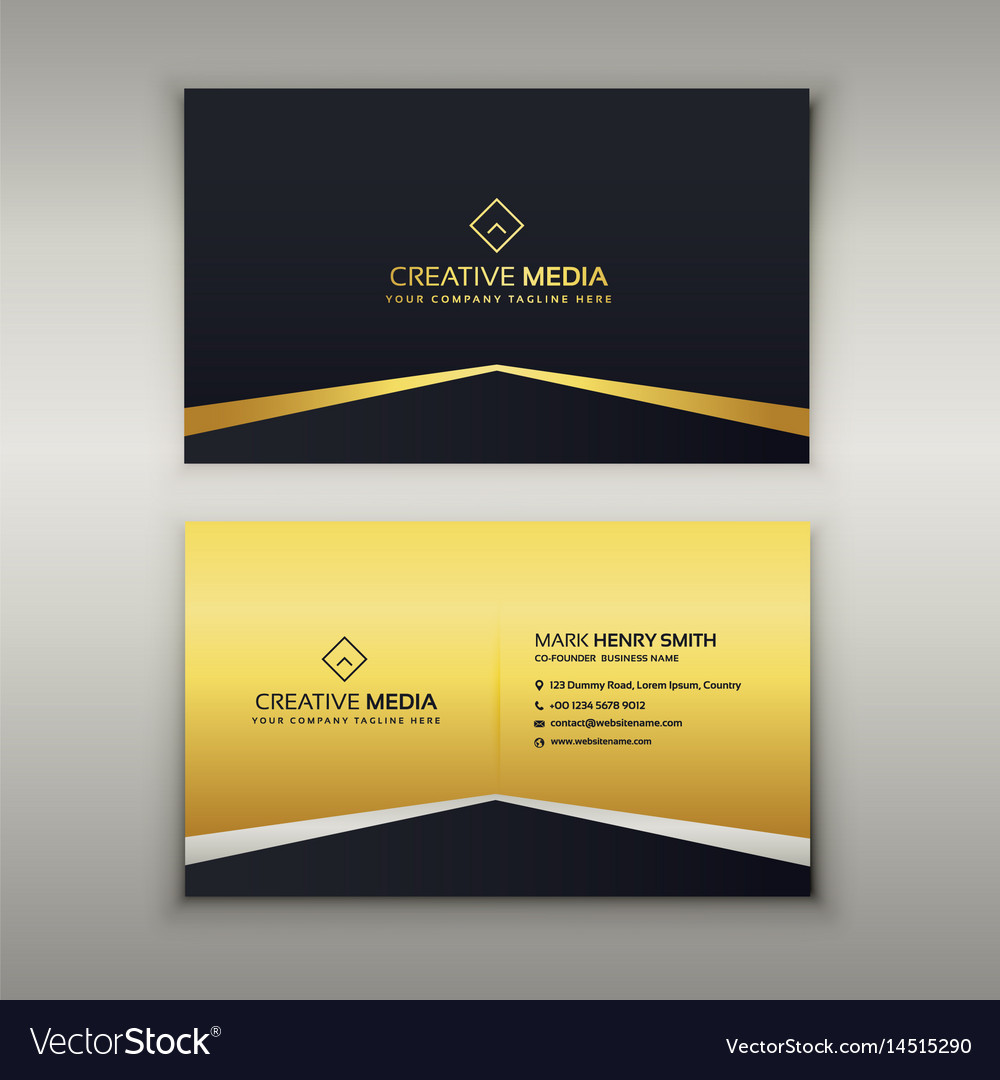 Luxury business card design template royalty free vector luxury business card design template vector image reheart Image collections