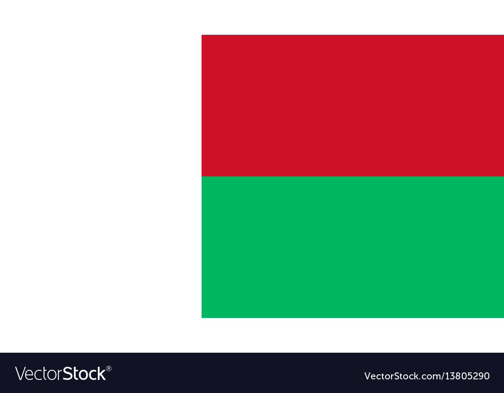 Madagascar flag for independence day and