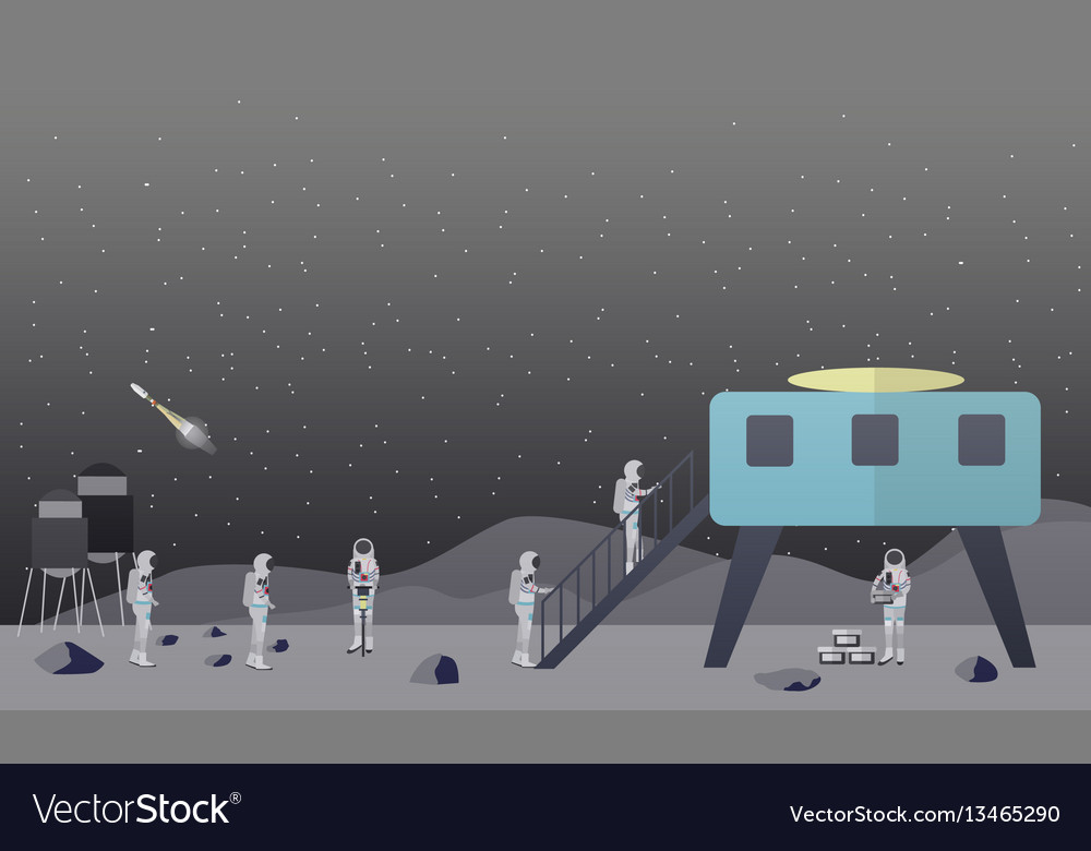 Moon exploration concept in