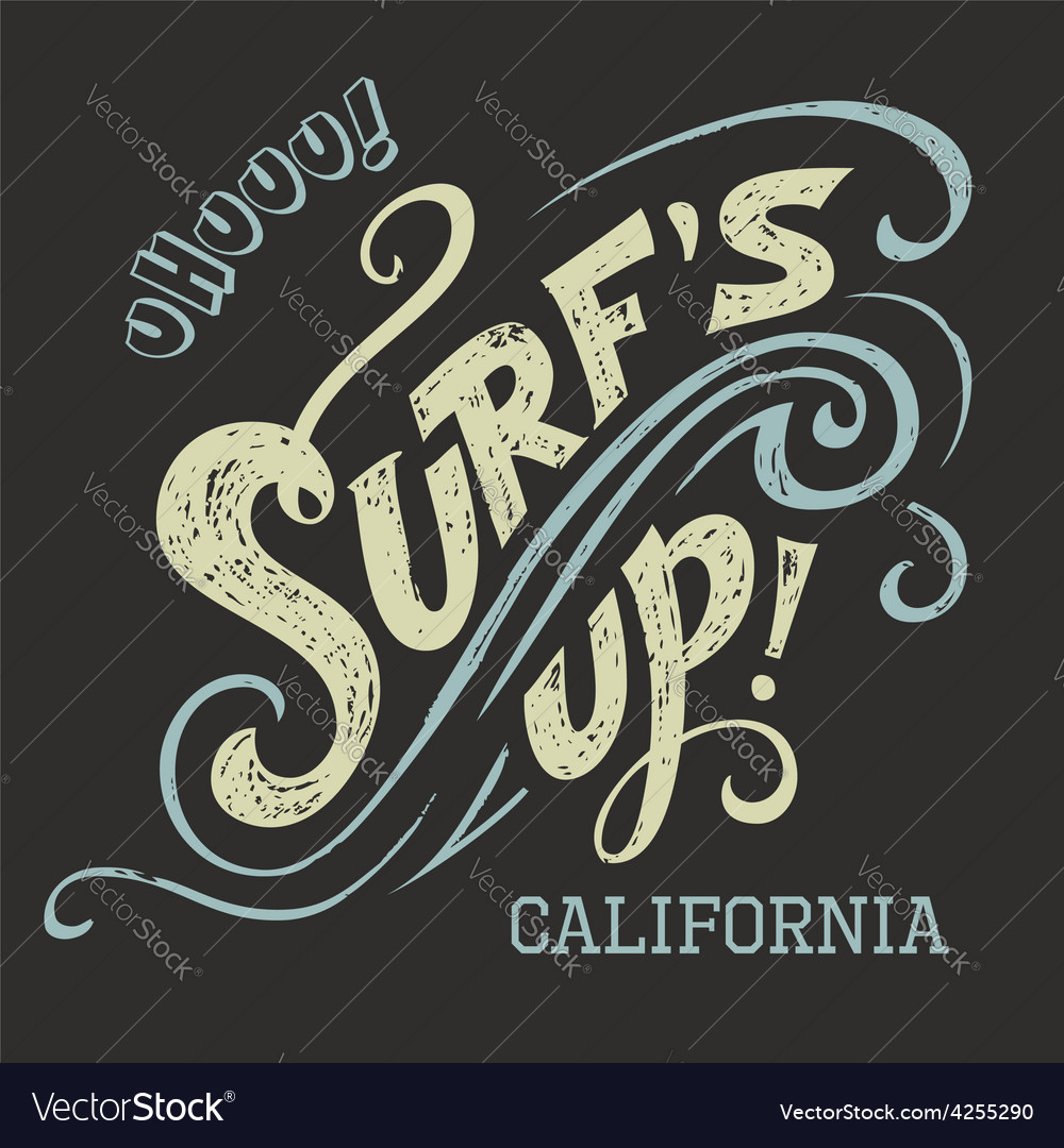 Surfs Up hand-lettering tee