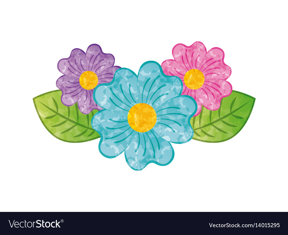 Beautiful Flowers Design Royalty Free Vector Image
