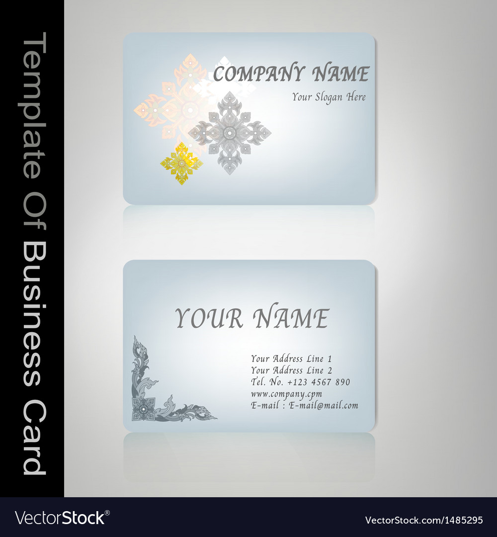 Business card Thai style Royalty Free Vector Image