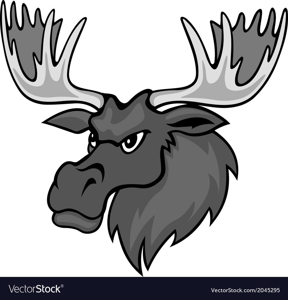 cartoon moose royalty free vector image vectorstock rh vectorstock com funny cartoon moose pictures cartoon moose pictures free