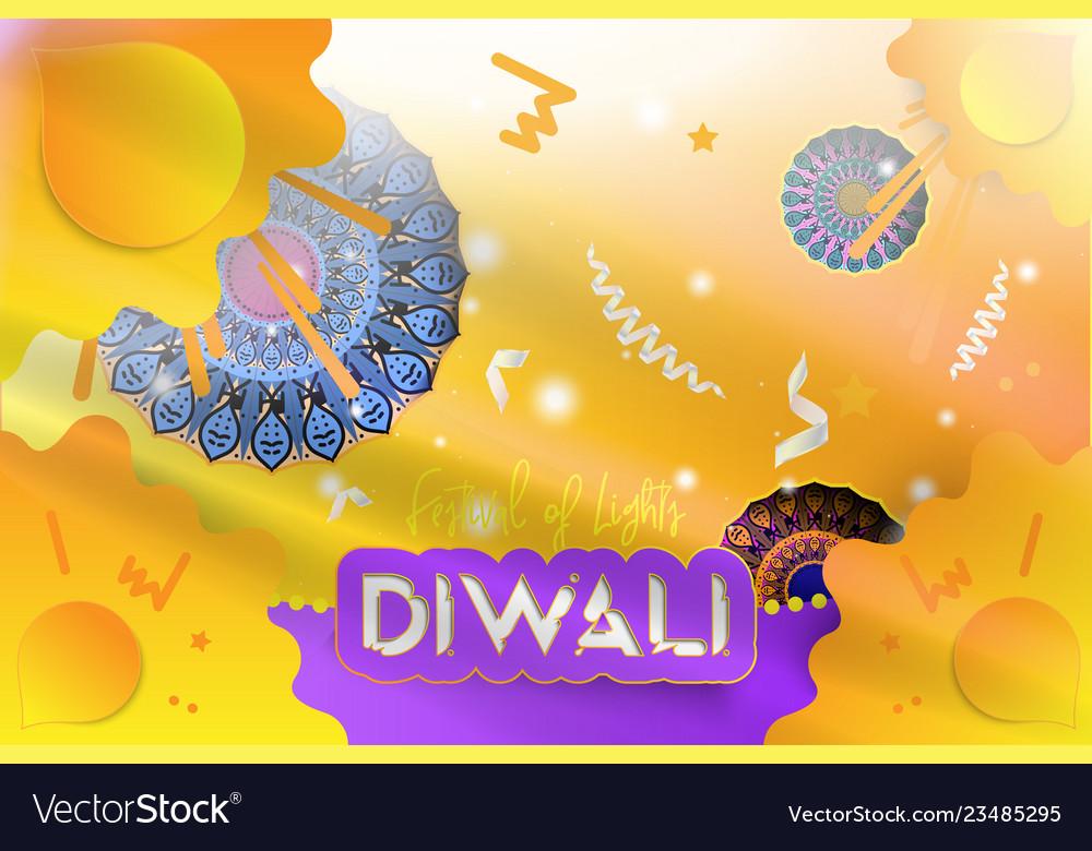 Diwali hindu festival of lights creative template