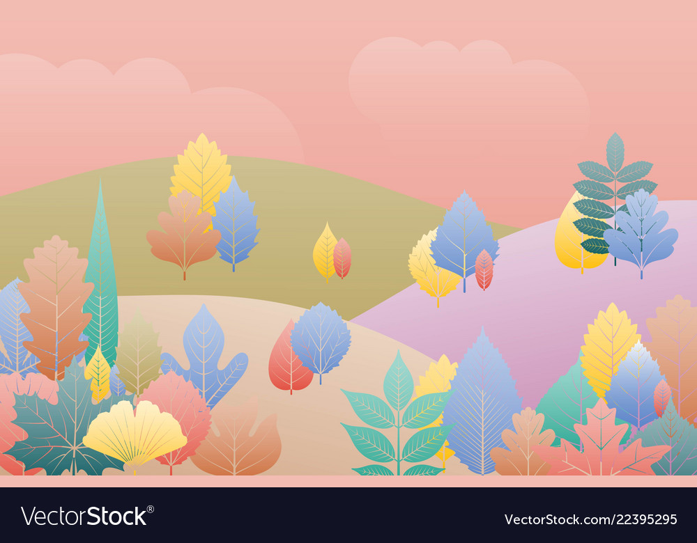 Gradation landscape fantasy background fall trees