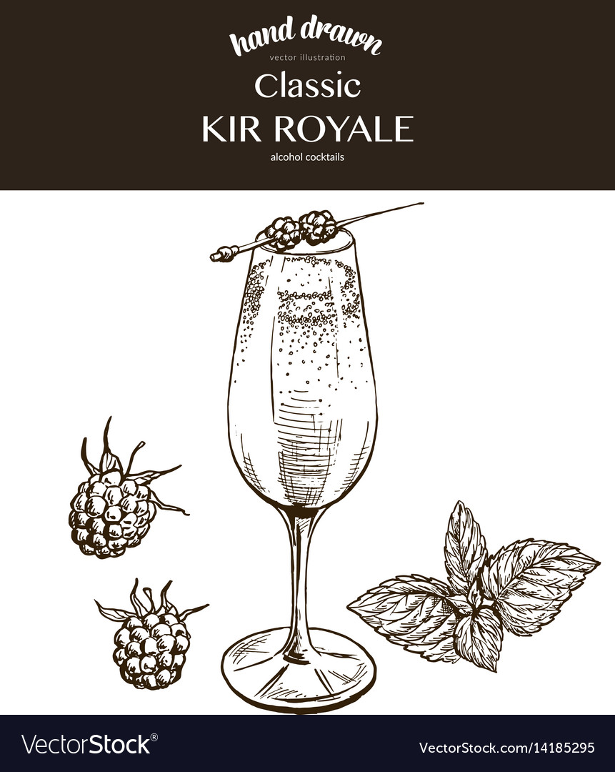 Kir royale sketch