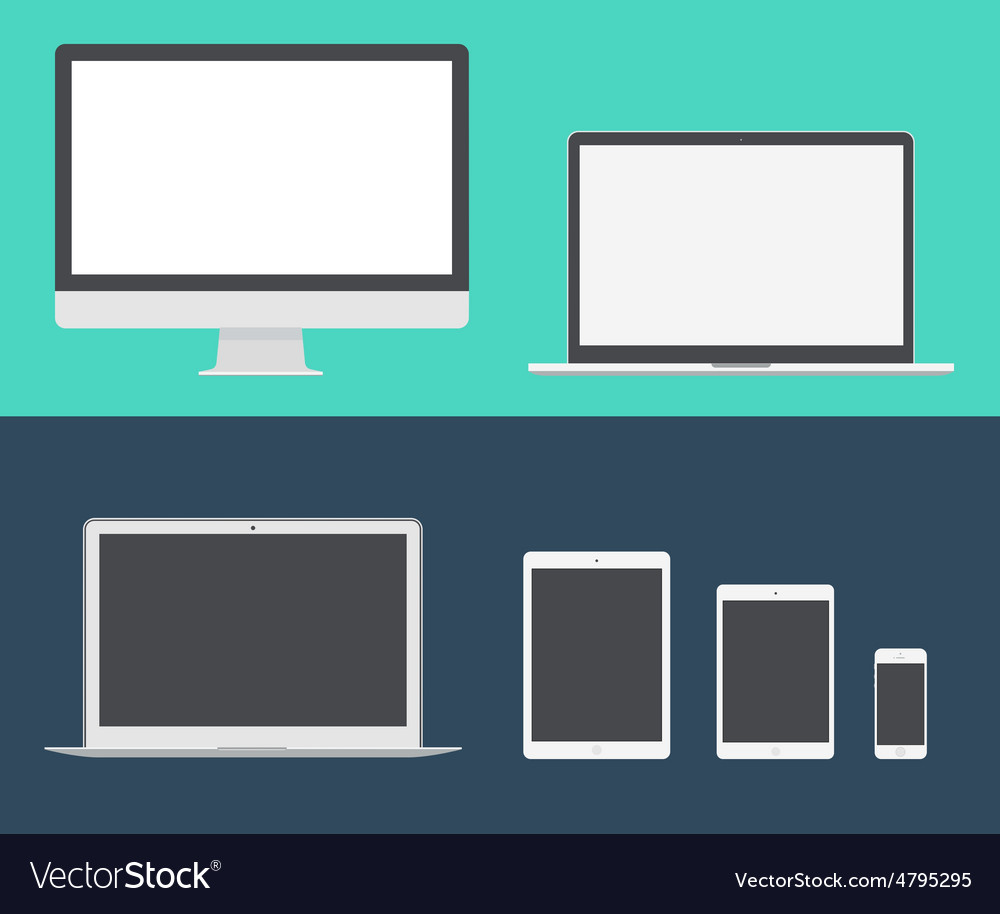 Mac Book iPad Pro vector image