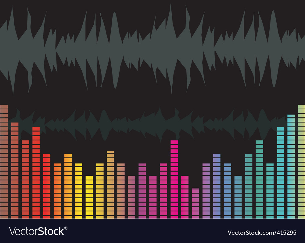 Music graph vector image