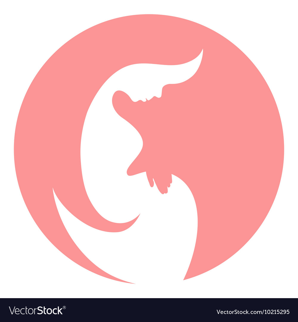 Pregnant woman stylized symbol