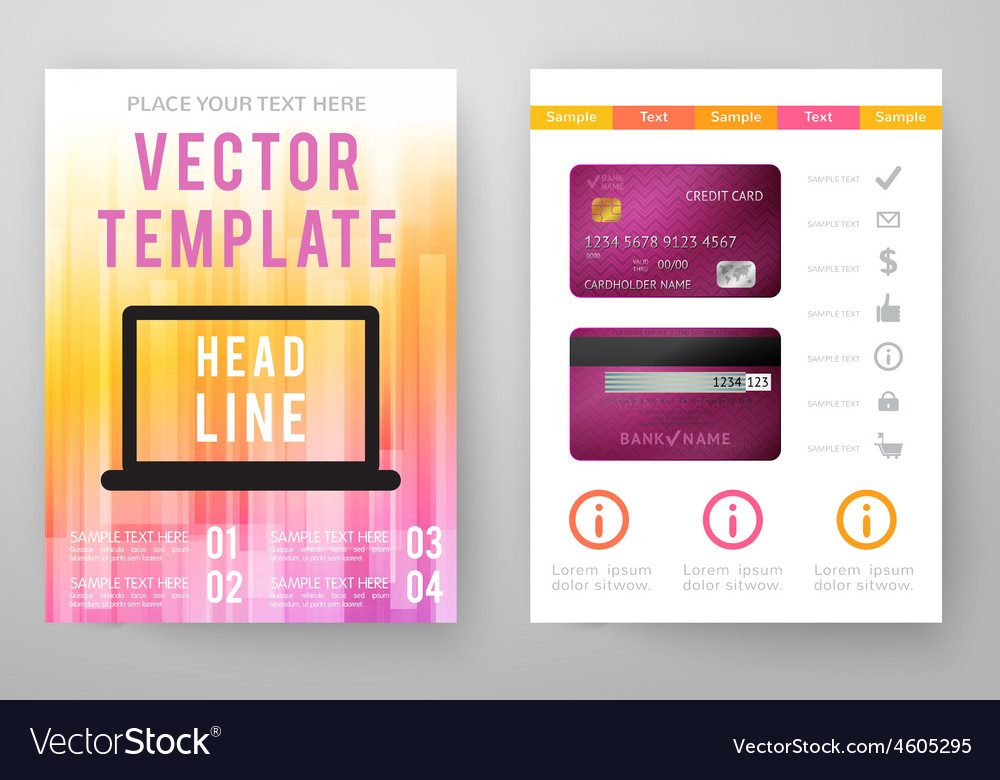 Set abstract bright background for flyer