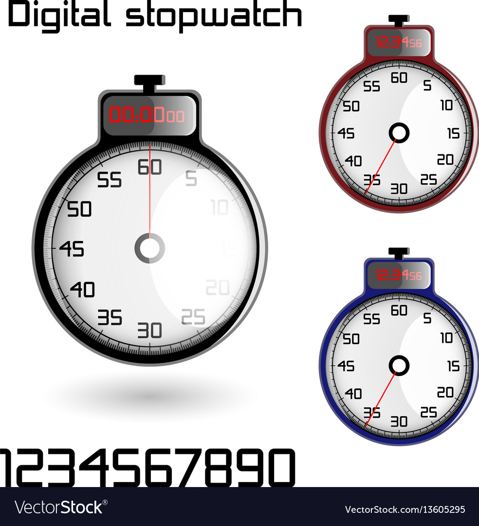 Set of 3d stop watches