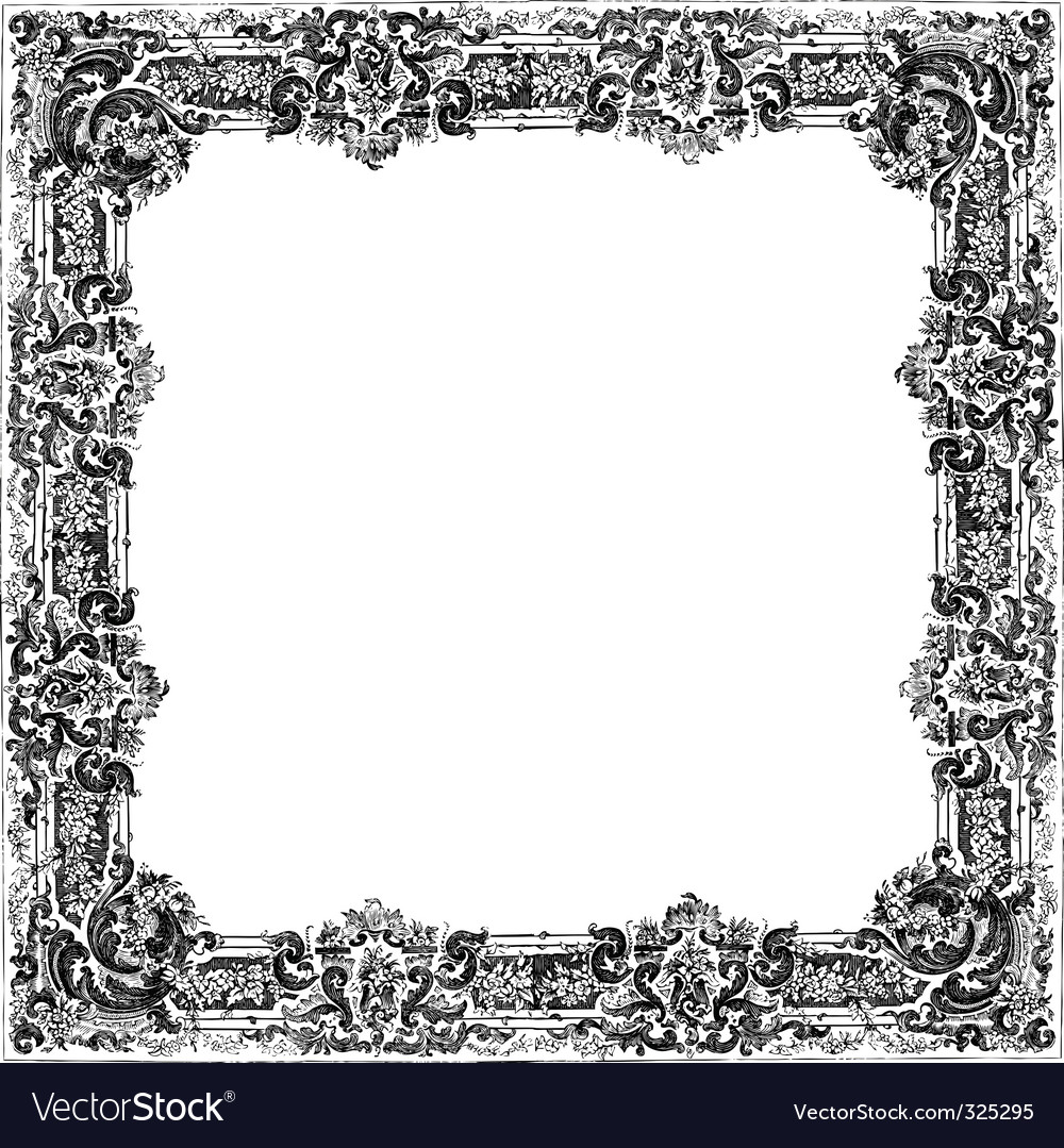 victorian frame royalty free vector image vectorstock rh vectorstock com circle victorian frame vector victorian frame vector free download