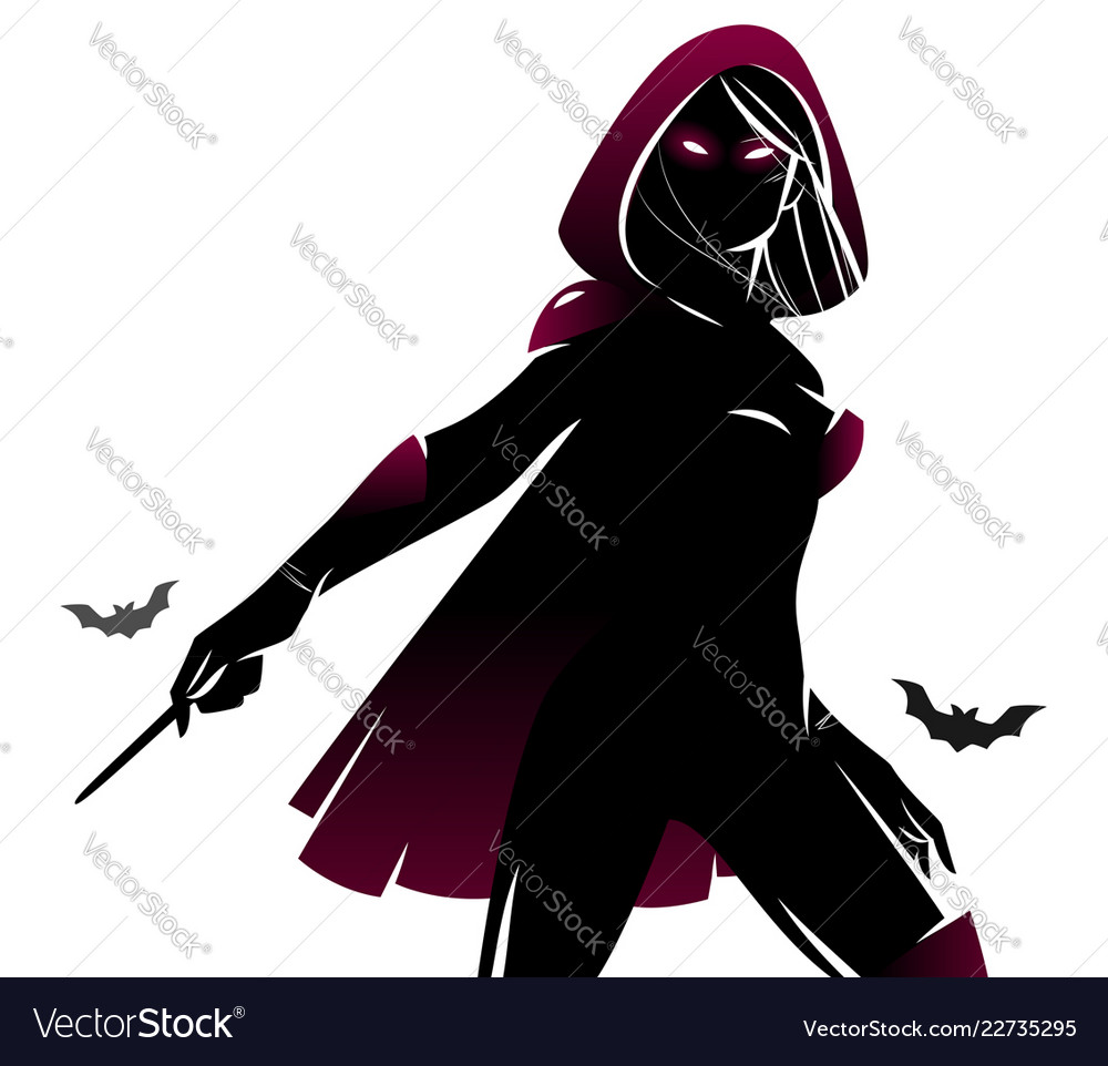 Witch sorceress silhouette