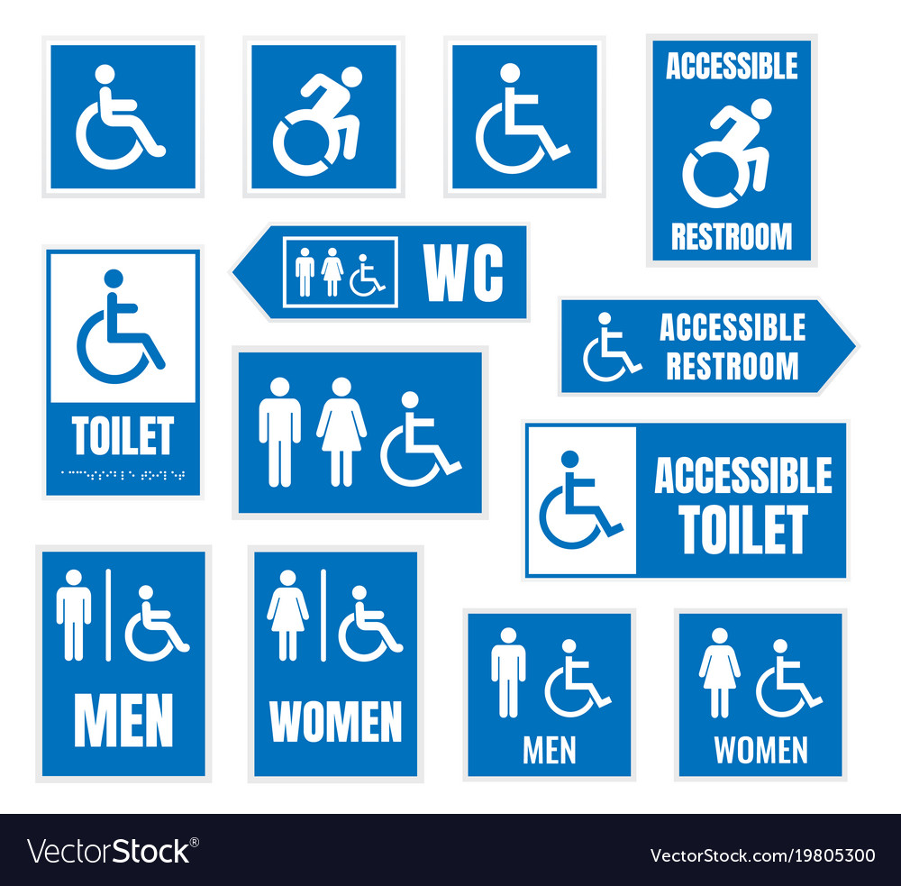 Accessible toilet sign restroom signs for